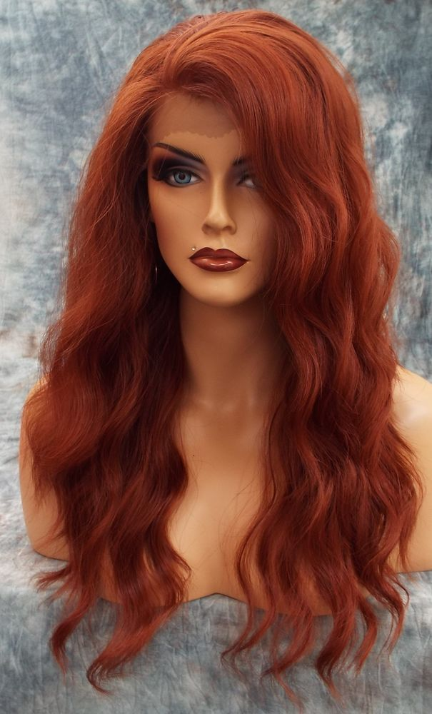 LACE FRONT LACE HEAT FRIENDLY SEXY WAVY RED WIG *130* USA SELLER 351 in Health & Beauty, Hair Care & Styling, Hair Extensions & Wigs | eBay