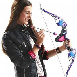 Aspiring archers can step up and stand out with the Nerf Rebelle 'Agent Bow Blaster' set. Kids will pull the arrow and aim as they learn a new skill. Let kids feel the thrill of real bow action as they launch the darts and make their mark on the world Arrows 'whistle' as they fly up to 85 feet A secret message decoder and instructions are included, adult assembly required The Nerf Rebelle fashion bow comes with 3 darts, 3 arrows and a dart storage accessory Ages 8 years and up