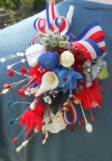 royal queens 90th birthday corsage street by muscariwhitesflorist