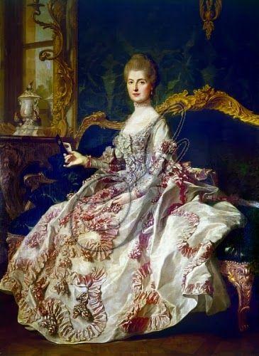 Anne-Catherine de Ligniville, Madame Helvétius, renowned salon hostess, 1722-1800 by Louis-Michel Van Loo