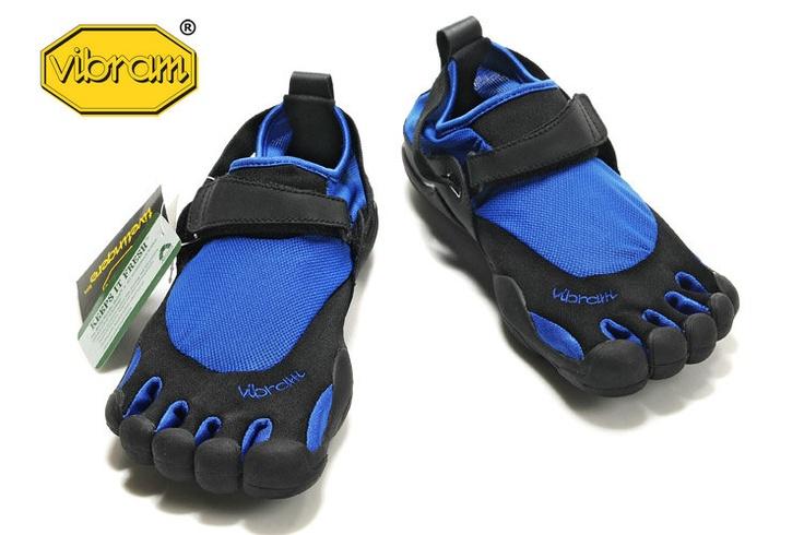 (Men) Vibram Fivefingers Kso Black/Blue Shoes