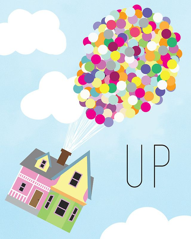 Up - Minimalist Poster | Photographic Print | Wall prints ... Up House Pixar Drawing