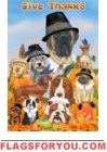 Thanksgiving Dogs Garden Flag - 1 left