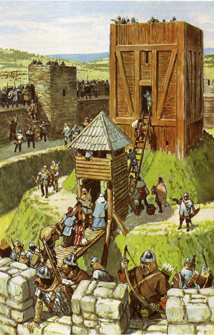 Au temps des royaumes barbares 22 - Chateau en motte - Pierre Joubert