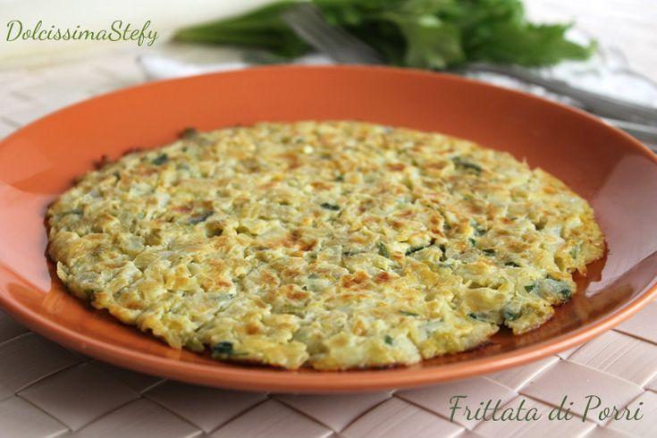 La Frittata di Porri al forno è una ricetta light per la cottura in forno, un secondo piatto facile da preparare e gustosissimo :)