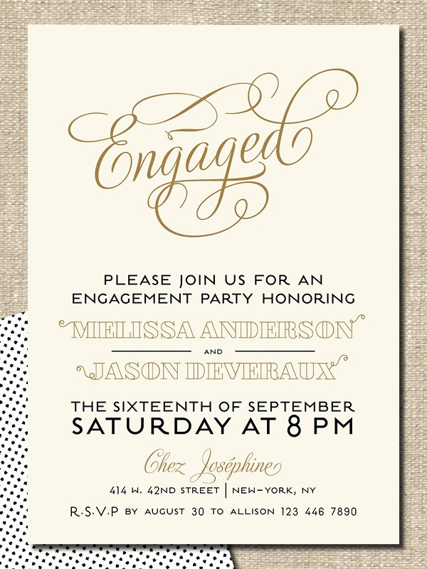 62 best Wedding Inspiration images on Pinterest At walmart - free engagement party invites