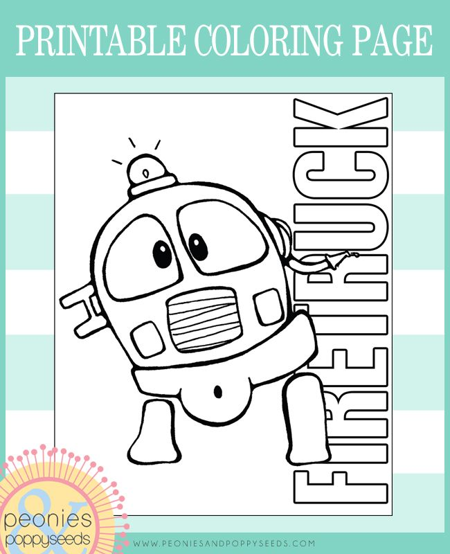 Free Coloring Page - Firetruck | Kids Activities