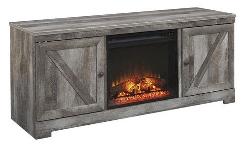 Terrific Wynnlow Gray Large Tv Stand With Fireplace Insert In 2019 Download Free Architecture Designs Lectubocepmadebymaigaardcom