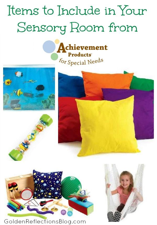 What items to include in your sensory room at home. | www.GoldenReflectionsBlog.com