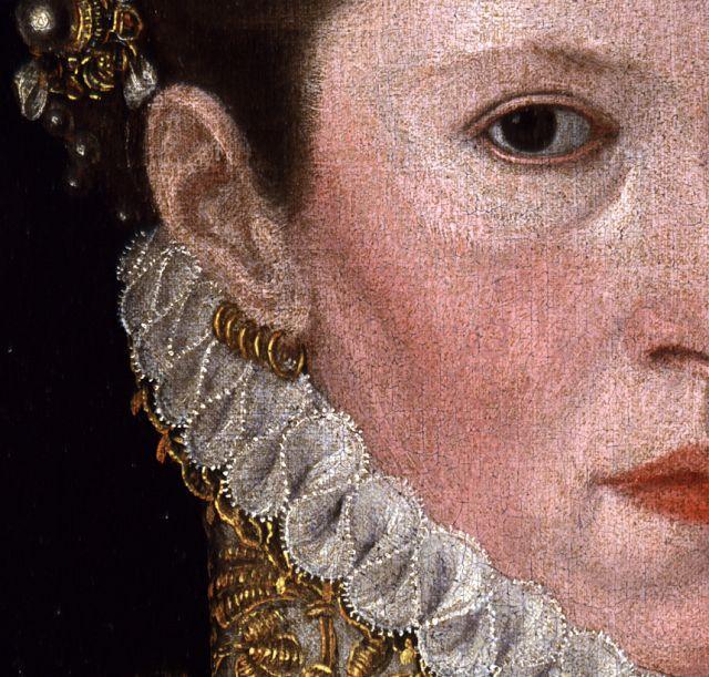 Multiple ear piercings. María de Portugal, Antonio Moro, h. 1550, Pinacoteca Stuard, Parma, Italia