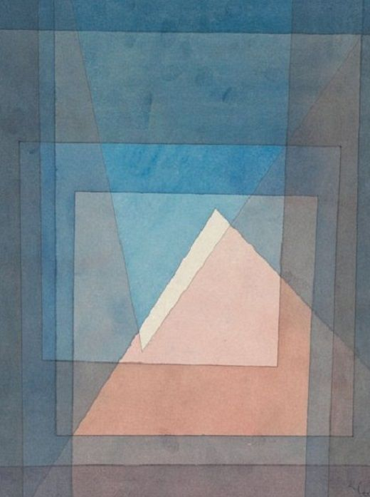 Paul Klee, Pyramide. reminds me of staircase photos in Neustadt