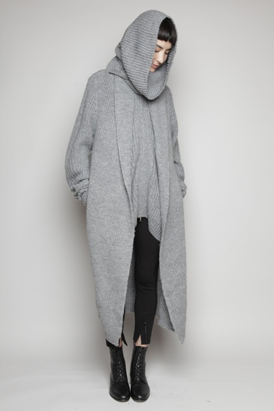 Totokaelo - 3.1 Phillip Lim - Long Coat Cardigan - Grey Melange