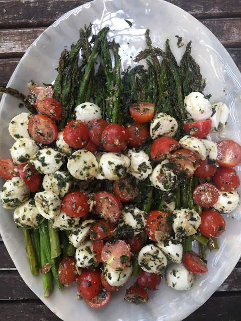 Asparagus Caprese Salad + My 4 Dress Options for Dinner En Blanc