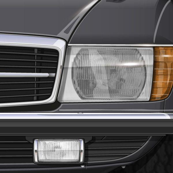 1974 MERCEDES BENZ 450 SL R107 ANTHRAZITGRAU ikonoto blueprint c