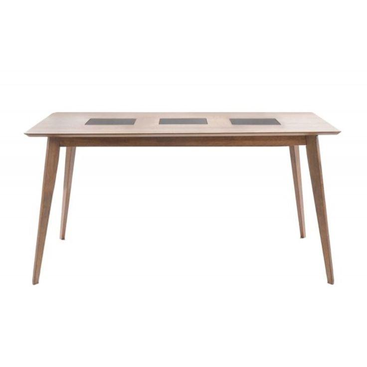 Wooden table Romano MDF top walnut 150x90x75