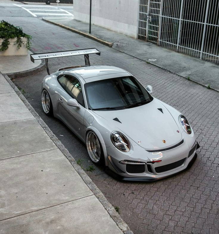 Porsche with GT3 race body kit