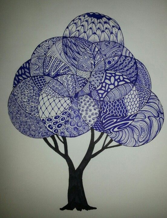 My own 1st Zentangle tree. (not mine). would love to do this 1 day soon. love the look of it
