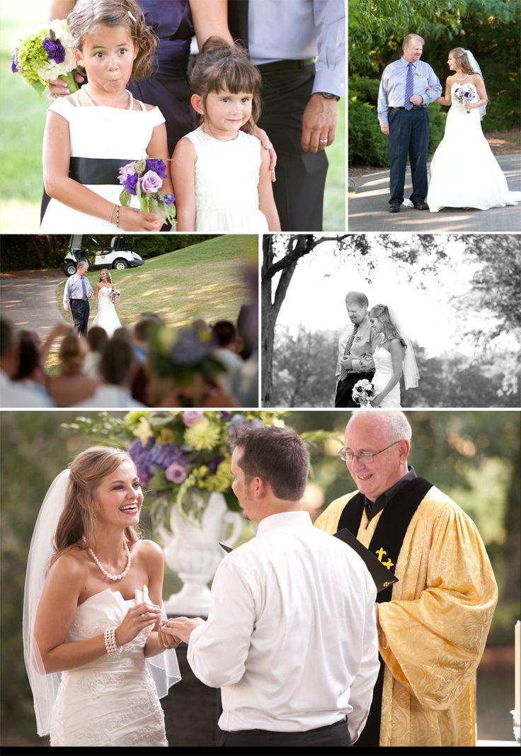 Alvamar Country Club, Lawrence, KS Outdoor Wedding Ceremony July ...