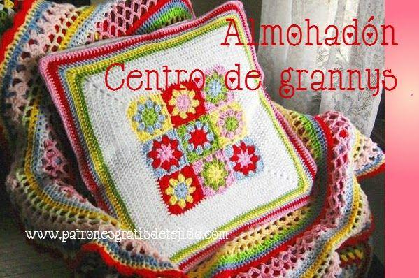2 modelos de almohadones modernos tejidos | Crochet y Dos agujas