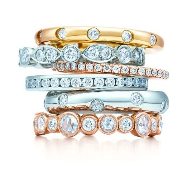 Shop Tiffany Celebration® Anniversary Rings | Tiffany & Co. ❤ liked on Polyvore featuring jewelry, rings, birthday jewelry, wedding anniversary rings, tiffany co rings, tiffany co jewellery and birthday rings