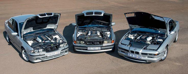BMW E31 840Ci, E38 740i and E39 540i - driven