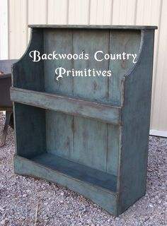 Backwoods Country Primitives Furniture & Goods: Small Crock Stand/Bench (item 13)