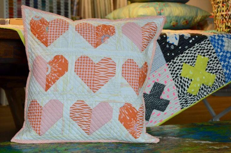 Kissen Herz lalala patchwork