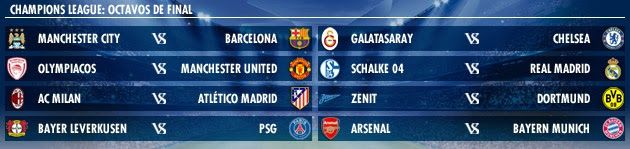Best Football Coachs: The draw for the Champions League 2013 -2014- and Europe League