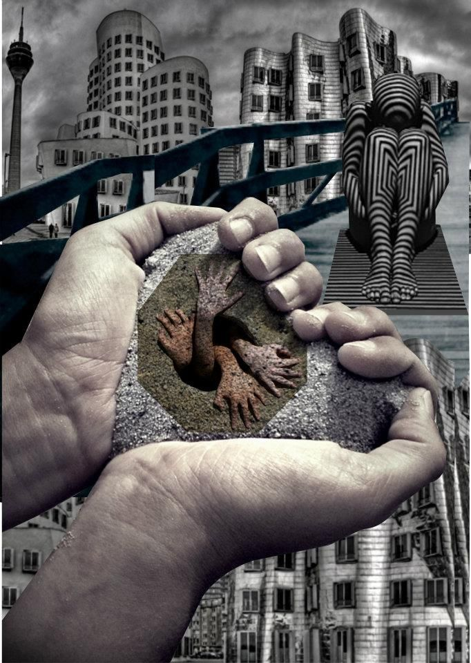 Digital collage Title: Learn to receive