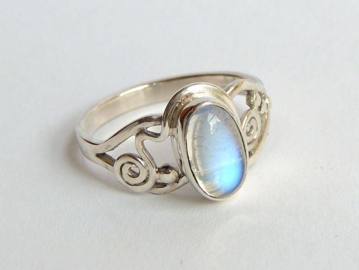 special one moonstone sterling silver ring,handmade jewel, dinner ring, order your size, unique design. by Majlagalery on Etsy