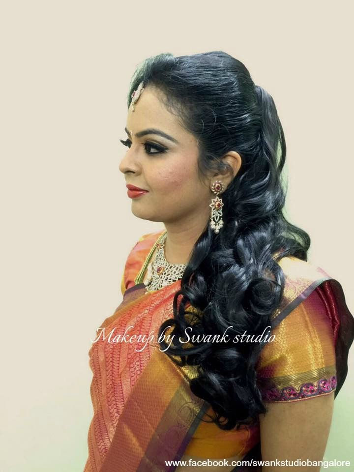 telugu hair styles indian s reception hairstyle by swank studio curls 4727