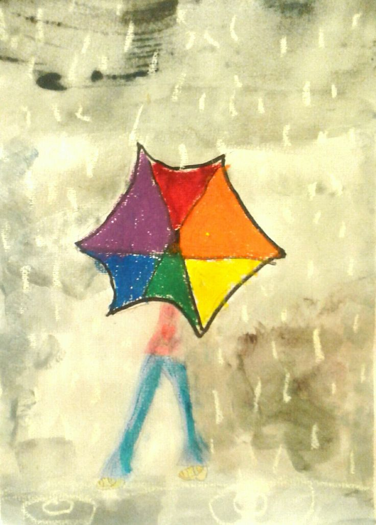 Elementary Art Project Colour Wheel umbrella