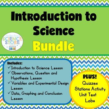 """This bundle is the perfect Introduction to Science! With FOUR complete lessons that cover """"what is science?"""" and each part of the scientific…"""
