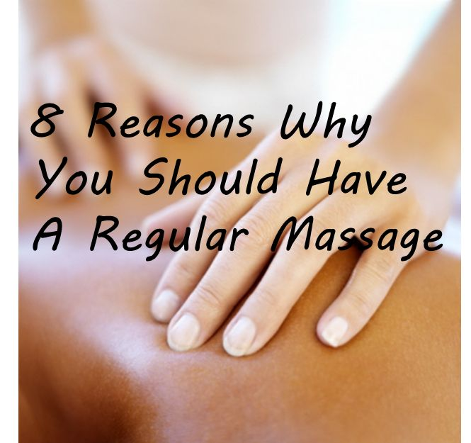 8 Reasons Why You Should Have A Regular Massage      A great way to save some money on massage, book a session with a local massage therapy school clinic
