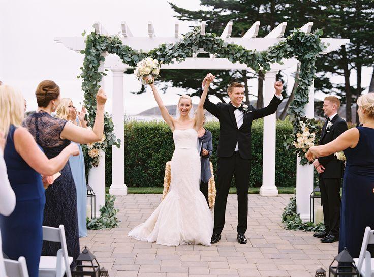Photography: Jessica Burke - www.jessicaburke.com Read More: http://www.stylemepretty.com/2015/02/19/elegant-coastal-wedding-at-half-moon-bay/