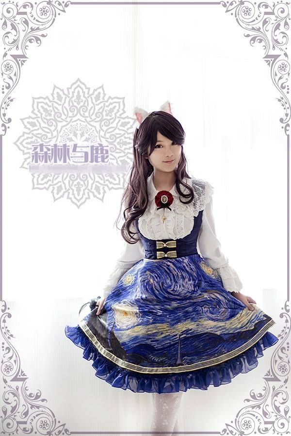 Reminder: [-★-Vincent and The Starry Night JSKs-☪-] are still available and can be [-✂-CUSTOM SIZED-✂-] >>> http://www.my-lolita-dress.com/forest-sambar-vincent-and-moon-night-corset-lolita-jsk-fs-5
