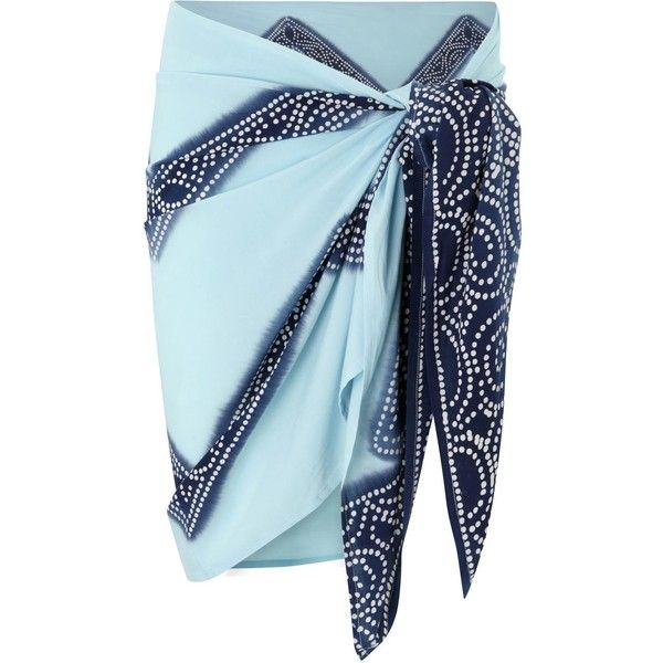 Coolchange Turquoise Printed Sarong ($21) ❤ liked on Polyvore featuring swimwear, cover-ups, skirts, sarong beach wear, navy blue swimwear, sarong swimwear, turquoise swimwear and sarong cover ups