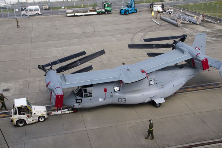 MV-22B Osprey - fold up aeroplane. Now that's what I call engineering.