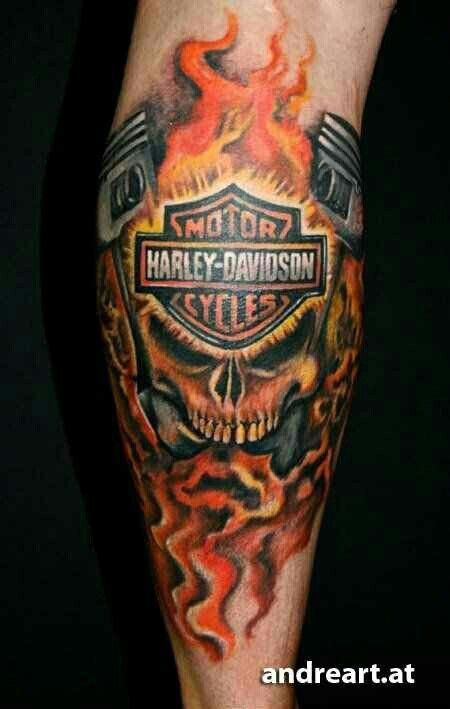 Harly Davidson Tat Harley Davidson Tattoos Flame