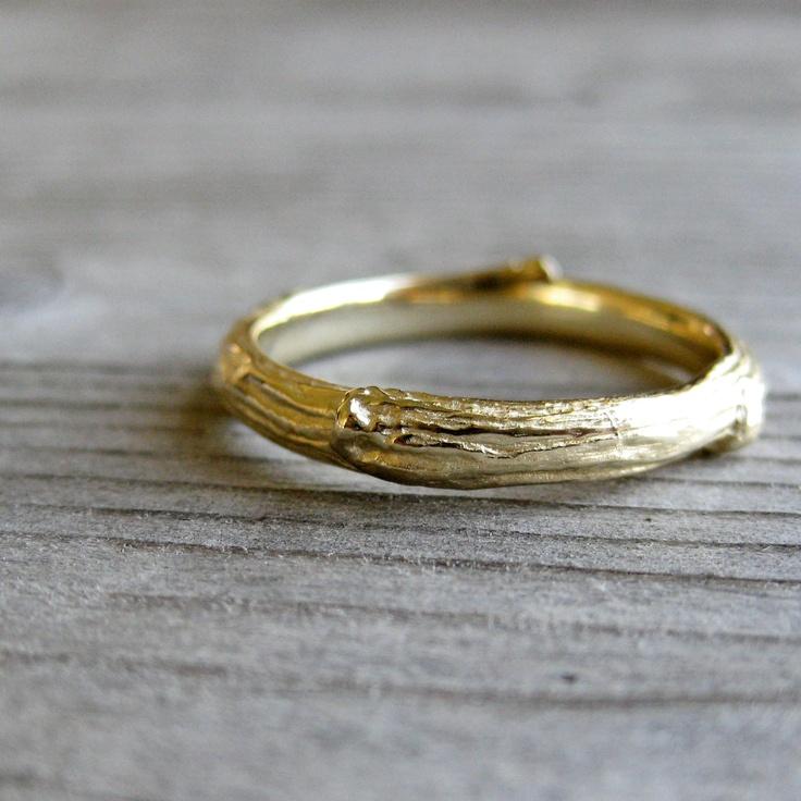 I love goooooold!: Bands In14K, Twig Wedding Bands, Twig Bands, Kristincoffin, Simple Rings, Men Wedding Bands Rose Gold, In14K Gold, Gold Men, Gold Twig