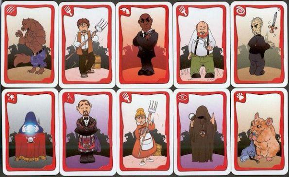 Alcune delle carte che rappresentano i ruoli di Lupus in Tabula