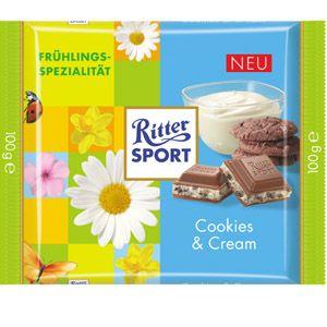 RITTER SPORT Frühlingssorte Cookies & Cream (2013)