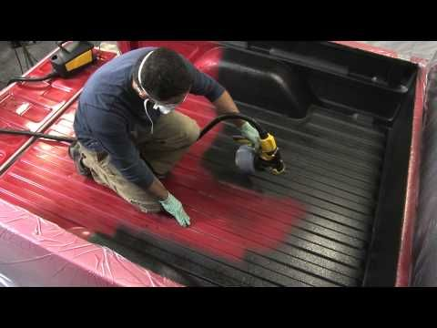 MotoCoat Truck Bed Liner Sprayer - YouTube