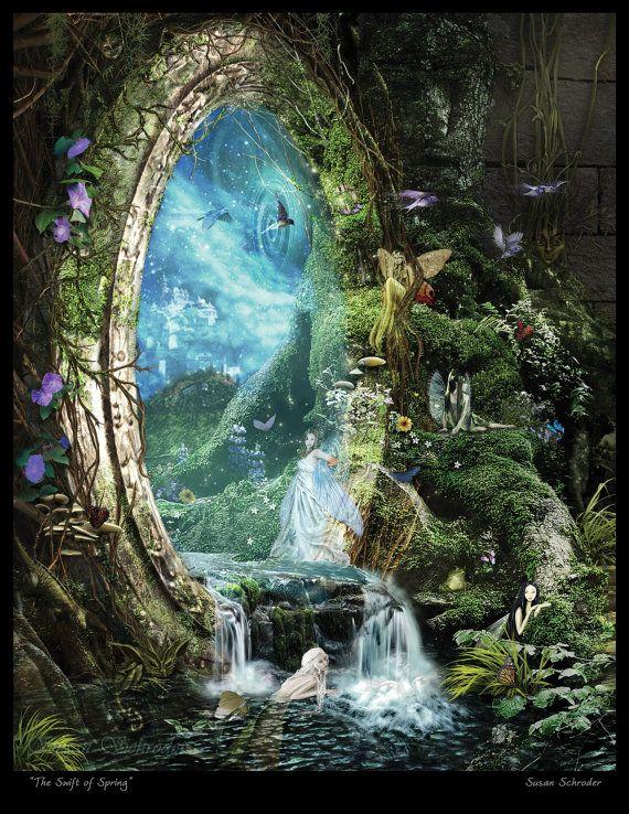 Swift of Spring Portal by Susan Schroder – Mythic Fantasy Fairy art print