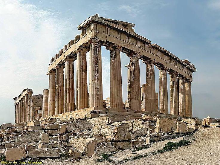 ATHÈNES - ( Grèce ) - Le Parthénon- Vue Est Sud Est -
