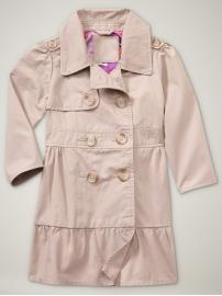 $44.95: Kids Style, Fall Coats, Ruffle Trench, Baby Girl, Baby Gap, Trench Coats