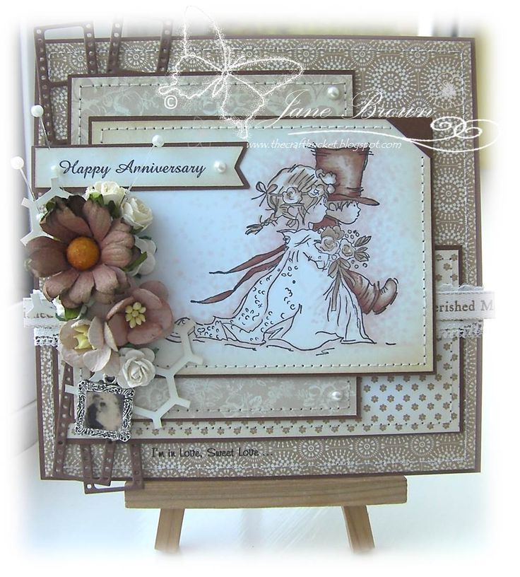 Wedding Couple Lili of the Valley Stamp http://thecraftbucket.blogspot.co.uk/