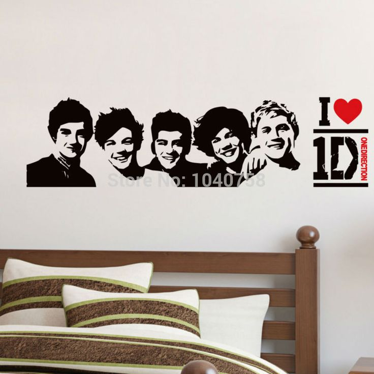Find More Wall Stickers Information About I Love One Direction Band Poster Wall  Stickers For Boys Part 44