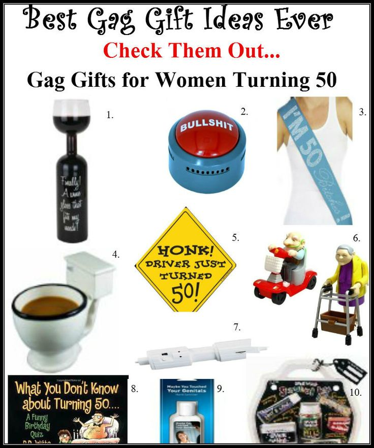Explore The Best 50th Birthday Gift Ideas For Men: The Best Gag Gifts For Women Turning 50! It Will Be The
