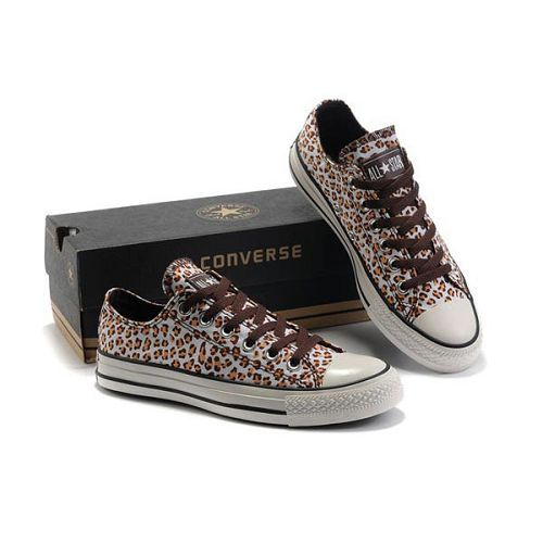 New Converse All Star Seasonal W louboutin leopard print Brown Low Top Shoes  Good_4.jpg